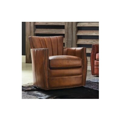Carson Swivel Club Chair Upholstery: Brown