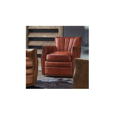 Carson Swivel Club Chair Upholstery: Red