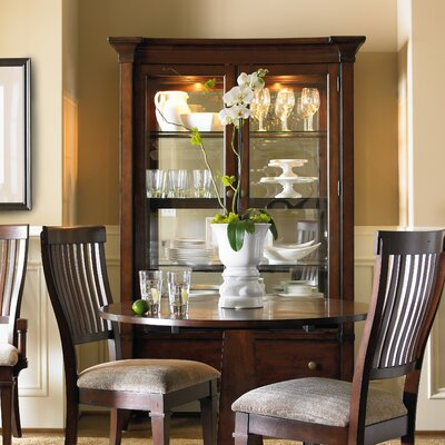 Abbott Place China Cabinet in Rich Warm Cherry