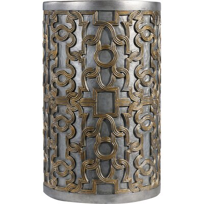 Melange Mia End Table Color: Gold/Silver