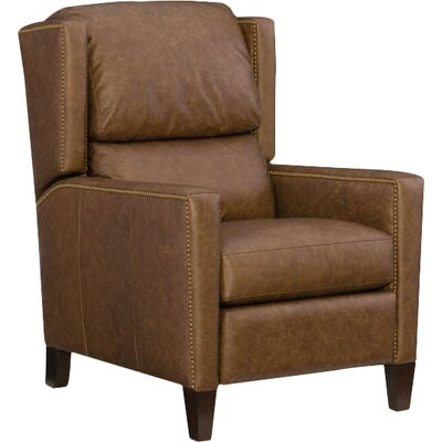 Paul Leather Recliner Upholstery: Brown