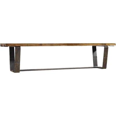 Live Edge Metal/Wood Bench 5590-75315-DKW