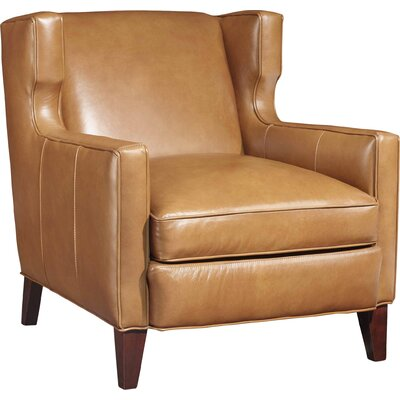 Amista Wingback Chair Upholstery: Light Brown