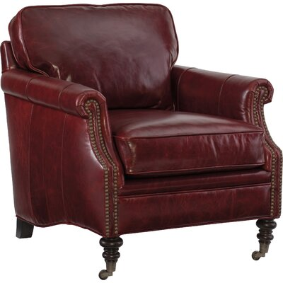Gianno Armchair Upholstery: Covington Bogue Red