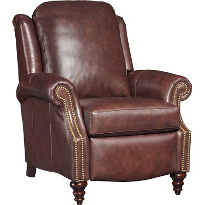 Hobson Leather Manual Recliner Color: Chesnut Brown