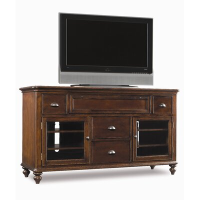 Cheap Hooker Furniture New Castle 64″ TV Stand in Rich Brown with a Light Physical Distressing (HKR4369)