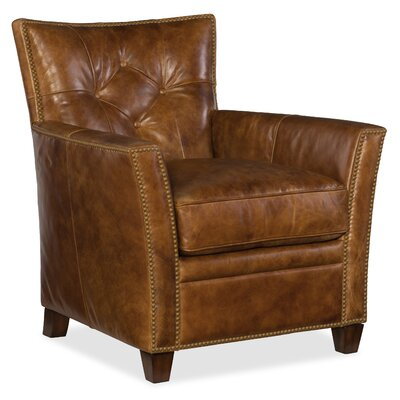 Conner Club Chair Upholstery: Light Brown