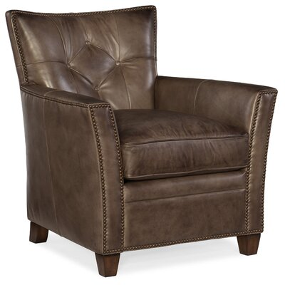 Conner Club Chair Upholstery: Dark Ash Brown