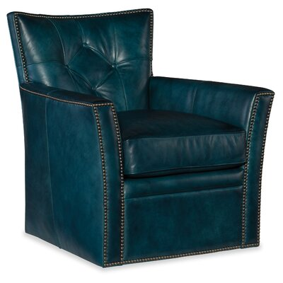Conner Swivel Club Chair Upholstery: Blue