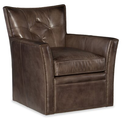 Conner Swivel Club Chair Upholstery: Dark Ash Brown