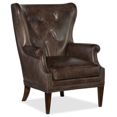 Maya Wing Wingback Chair Upholstery: Gray