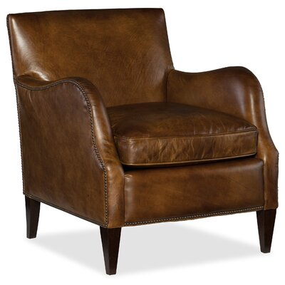 Thatcher Club Chair Upholstery: Medium Brown