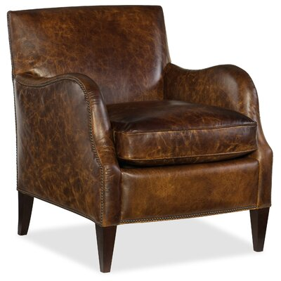 Thatcher Club Chair Upholstery: Dark Brown