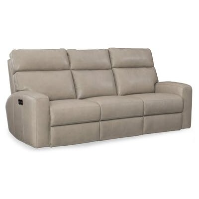 Mowry Power Motion Leather Reclining Sofa Upholstery: Cream