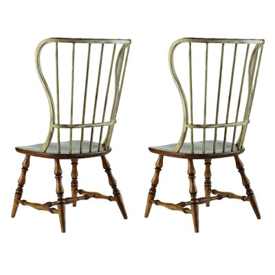 Sanctuary Spindle Back Dining Chair (Set of 2) Finish: Drift / Dune