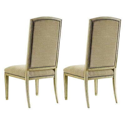 Sanctuary Mirage Upholstered Dining Chair (Set of 2) Finish: Dune