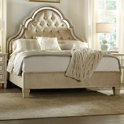 Sanctuary Upholstered Platform Bed Size: Queen