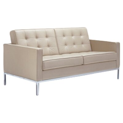 Florence Loveseat Upholstery: Volo Leather Ayers Rock