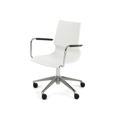 Gigi Swivel Armchair Arms Arms Shell Dove picture