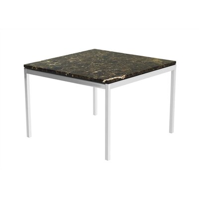 Cheap Knoll Florence Knoll Large Square End Table Base Finish: Polished Chrome, Tabletop Finish: Clear Glass (KLL1257_2343724_2343726)