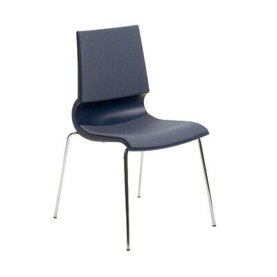 Gigi Side Chair Upholstery: Classic Boucle Crimson, Frame Finish: Black