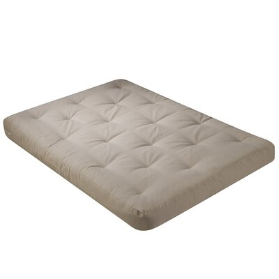 Chestnut 8 Cotton and Foam Futon Mattress Size: Full, Color: Cotton - Khaki