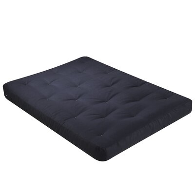 Redbud 9 Coil Futon Mattress Size: Full, Color: Cotton - Black