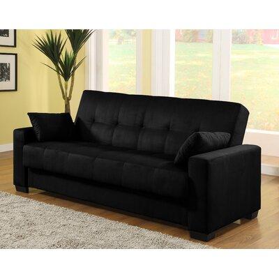 Boston Convertible Sofa Color: Black