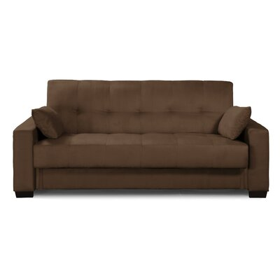 Boston Convertible Sofa Color: Java