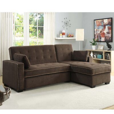 Lancaster Dream Chaise Sectional Upholstery: Java