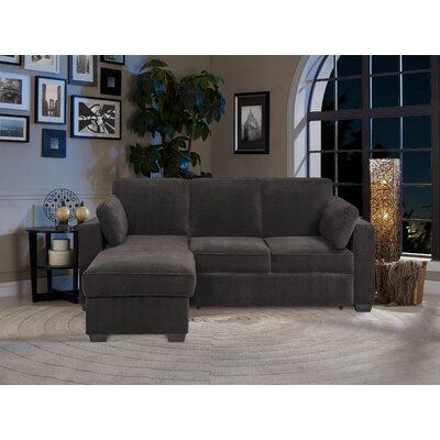 Charlie Sleeper Sectional Upholstery: Gray