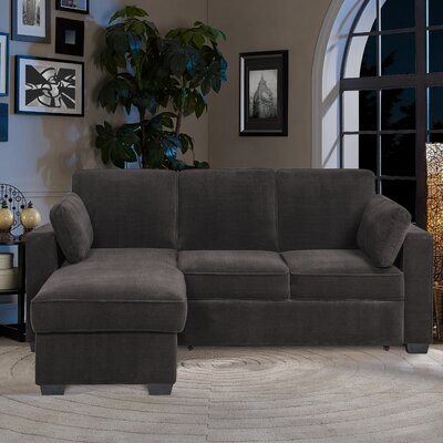 Serta Futons CA-CHLS2MM4011 Charlie Reversible Sleeper Sectional Upholstery