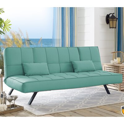 Pool and Deck Convertible Sofa Upholstery: Seafoam Green