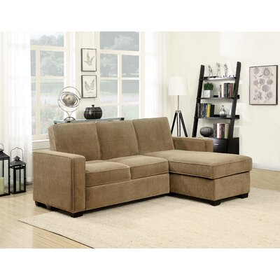 Serta Futons CHA-2PC-LB-SET Serta Charlie Reversible Sleeper Sectional