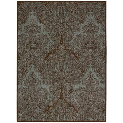 Primm Teal/Chocolate Area Rug Rug Size: Runner 23 x 8