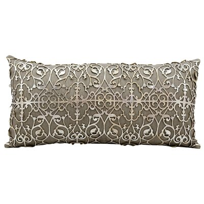 Couture Natural Leather Lumbar Pillow