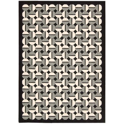 Griffith Black/Grey Geometric Area Rug Rug Size: Rectangle 79 x 1010
