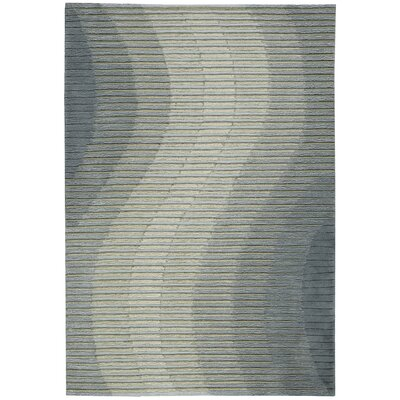 Mulholland Hand-Woven Gray Area Rug Rug Size: 39 x 59