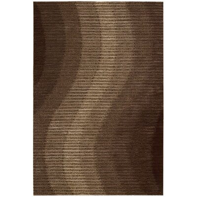 Mulholland Hand-Woven Chocolate Area Rug Rug Size: Rectangle 5 x 76