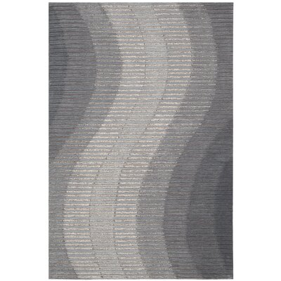 Robins Hand-Woven Gray Area Rug Rug Size: Rectangle 39 x 59