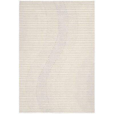 Mulholland Hand-Woven Ivory Area Rug Rug Size: 39 x 59