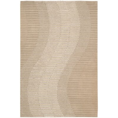 Robins Hand-Woven Sand Area Rug Rug Size: Rectangle 39 x 59