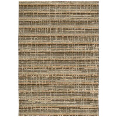 Mulholland Hand-Woven Brown Area Rug Rug Size: 39 x 59