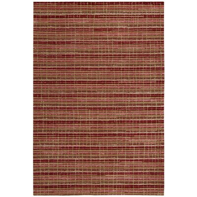 Mulholland Hand-Woven Ruby Area Rug Rug Size: Rectangle 39 x 59