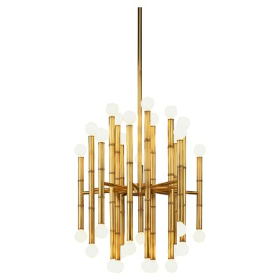 Jonathan Adler Meurice 30-Light Sputnik Chandelier Finish: Antique Natural Brass