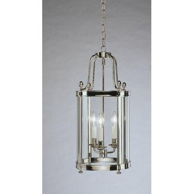 Blake 3-Light Lantern Pendant Finish: Polished Nickel