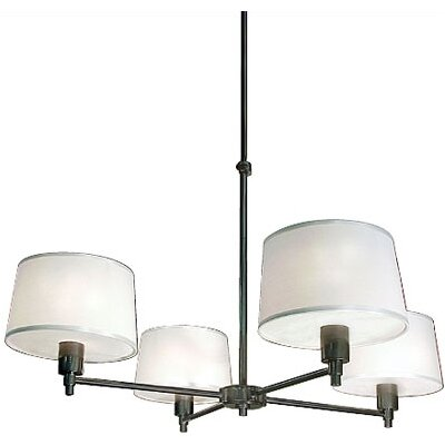 Real Simple 4-Light Shaded Chandelier Finish: Gunmetal