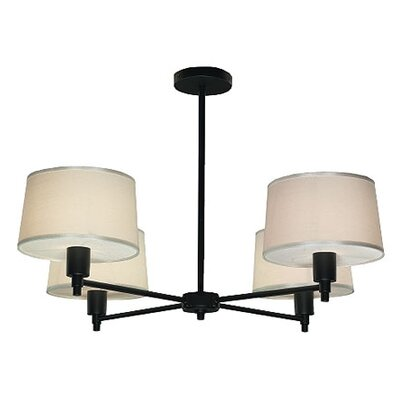 Real Simple 4-Light Candle-Style Chandelier Finish: Matte Black