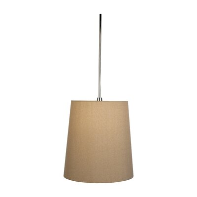 Buster 1-Light Drum Pendant Shade Color: Taupe Clairborne