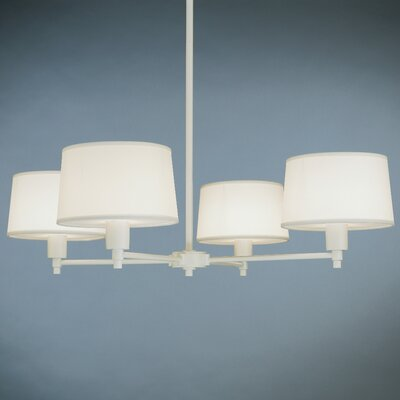 Real Simple 4-Light Candle-Style Chandelier Finish: Stardust White
